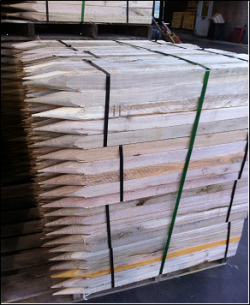 Hardwood Stakes for erosion control